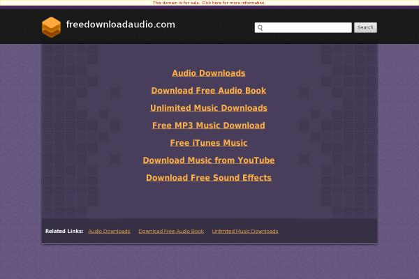 freedownloadaudio.com screenshot