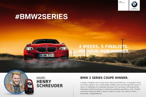 bmw2series.co.za screenshot